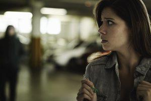 lady in garage